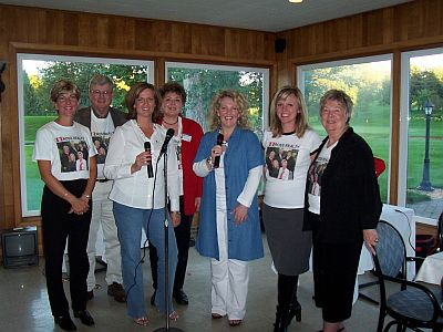 Ross Realty Team & Uptown and Curly singing group at the LeSueur Country Club
